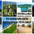 Kolaż zdjęć przedstawiających wybrane dokonania NetFactory w 2014 roku