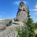 Formacja skalna Pielgrzymy znajdująca się w Karkonoszach