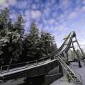 Skocznia narciarska Orlinek w Karpaczu w zimowej aurze
