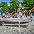 Rewalskie wieloryby i fontanna