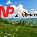 Łąka w Wiśle, loga WP i NetFactory