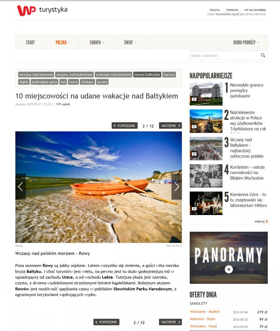 10 miejscowowosci na udane wakacje nad baltykiem